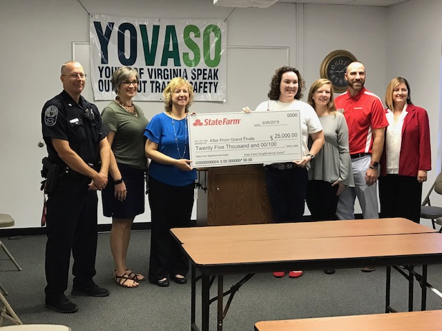 YOVASO receives $25,000 check from state farm
