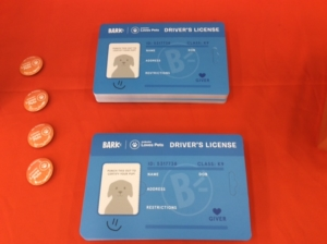 Subaru Loves Pets ID cards