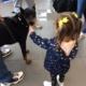First Team Subaru Pet Event Girl with dog