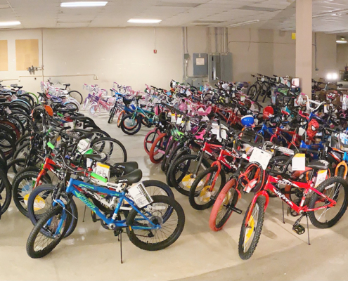 Toys for Tots bikes First Team Auto Mall