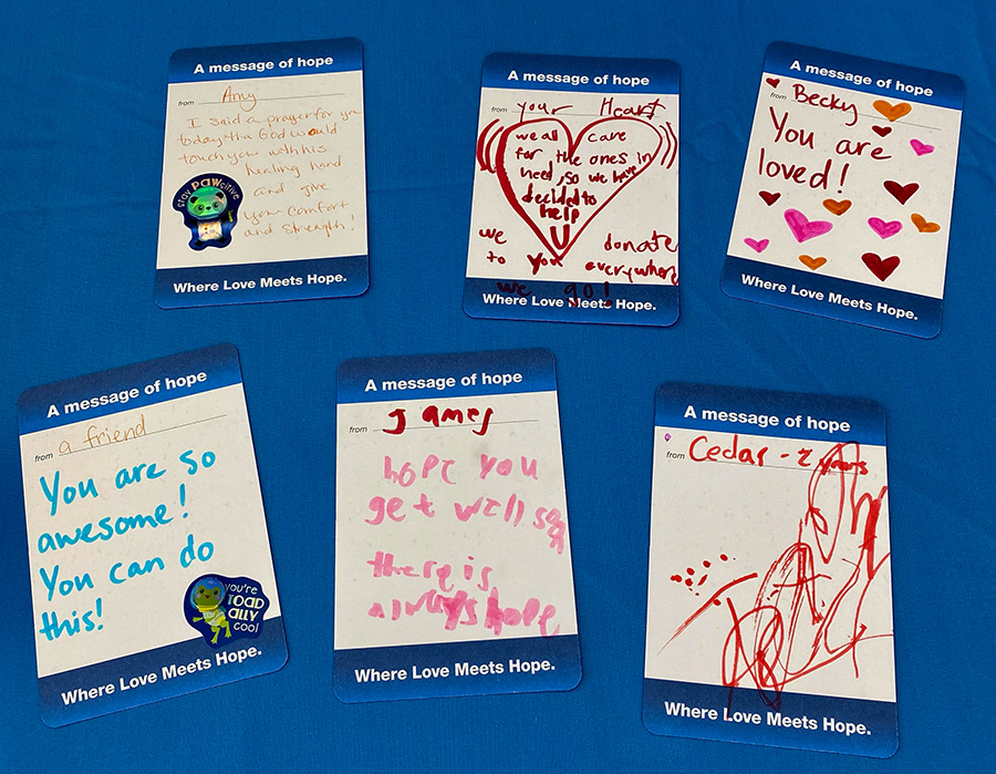 First Team Subaru Loves to Care Cards